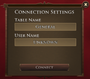 Connection Settings Dialog